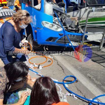 Accidente fatal en Buin involucró a metrobus 81