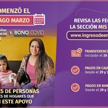 PAGO BONO COVID Y INGRESO FAMILIAR DE EMERGENCIA