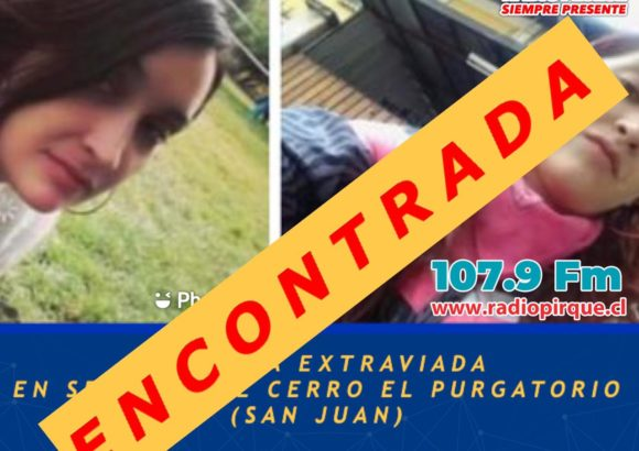 Encontrada Carol Fuentes, la joven extraviada en los cerros de San Juan, En buenas condiciones
